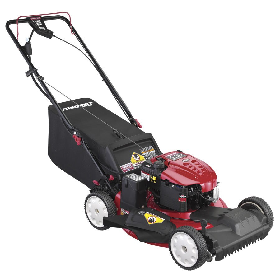 Troy-Bilt TB280 ES 190-cc 21-in Key Start Self-Propelled Front Wheel Drive 3 in 1 Gas Push Lawn Mower with Briggs & Stratton Engine