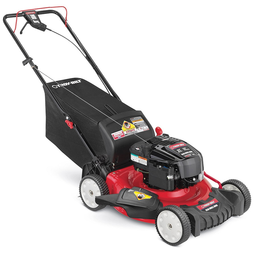 Troy-Bilt TB320 190-cc 21-in Self-Propelled Rear Wheel Drive 3 in 1 Gas Push Lawn Mower with Briggs & Stratton Engine and Mulching Capability