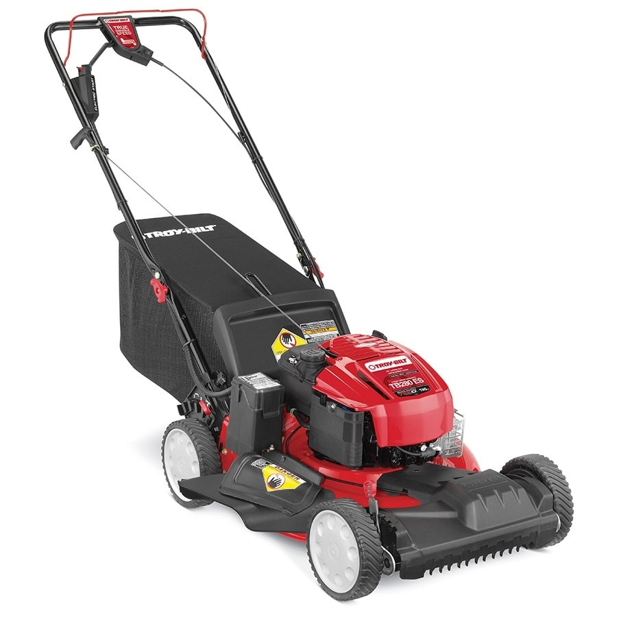 Troy-Bilt TB280 ES 190-cc 21-in Electric Start Self-Propelled Front Wheel Drive 3-in-1 Gas Lawn Mower with Mulching Capability