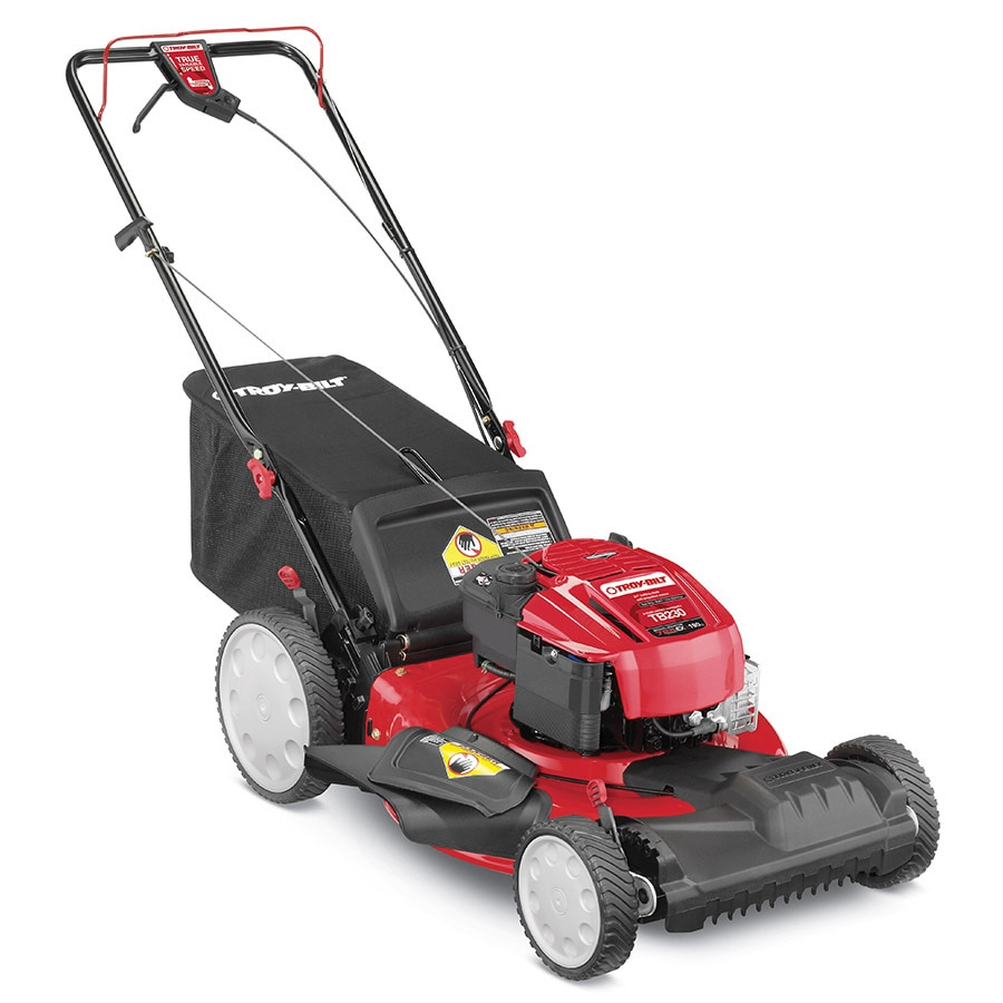 Troy-Bilt TB230 190-cc 21-in Self-Propelled Front Wheel Drive 3-in-1 Gas Lawn Mower with Mulching Capability