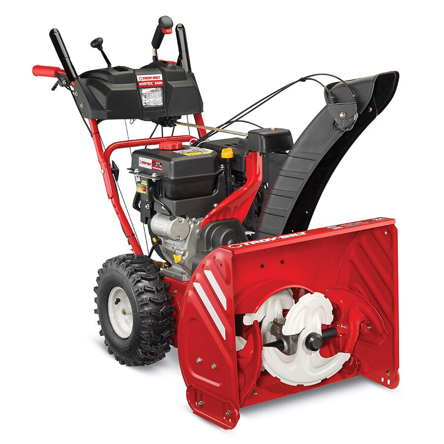 Troy-Bilt Vortex 2490 277cc 24-in Three-Stage Electric Start Gas Snow Blower with Heated Handles and Headlight