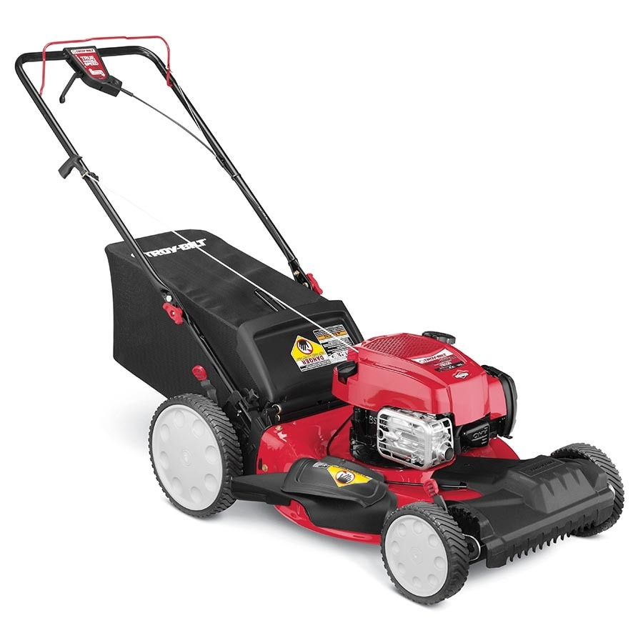 Troy-Bilt TB230 163-cc 21-in Self-Propelled Front Wheel Drive Residential Gas Lawn Mower with Mulching Capability