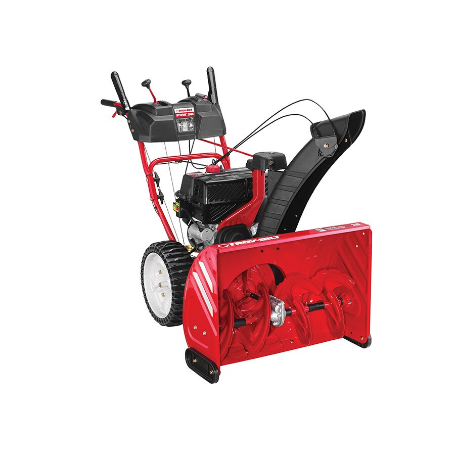 Troy-Bilt Storm 2890 243cc 28-in Two-Stage Electric Start Gas Snow Blower with Heated Handles and Headlight