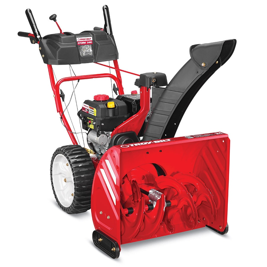 Troy-Bilt Storm 2460 208cc 24-in Two-Stage Electric Start Gas Snow Blower with Headlight