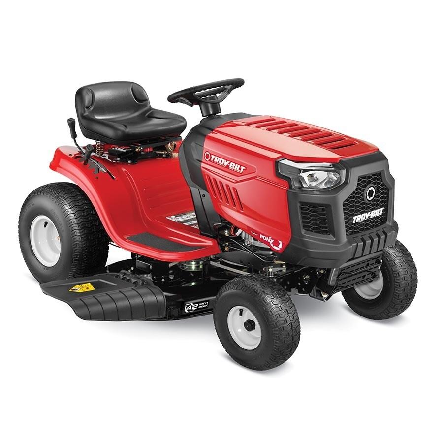 troy-bilt pony 17.5-hp manual/gear 42-in riding lawn mower with ...  lowe's