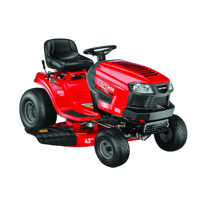 CRAFTSMAN T110 17.5-HP Manual/Gear 42-in Riding Lawn Mower with Mulching Capability (Kit Sold Separately)