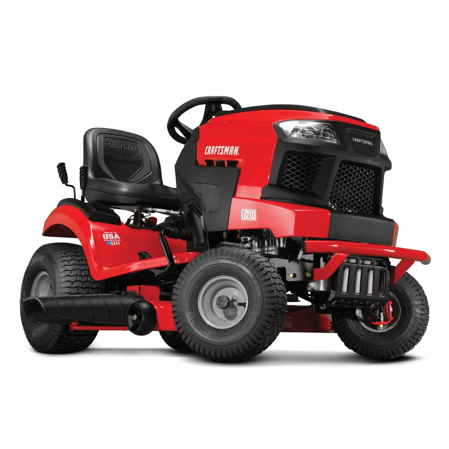 CRAFTSMAN T210 Turn Tight 18-HP Hydrostatic 42-in Riding Lawn Mower with  Mulching Capability (Kit Sold Separately) in the Gas Riding Lawn Mowers  department at Lowes.com