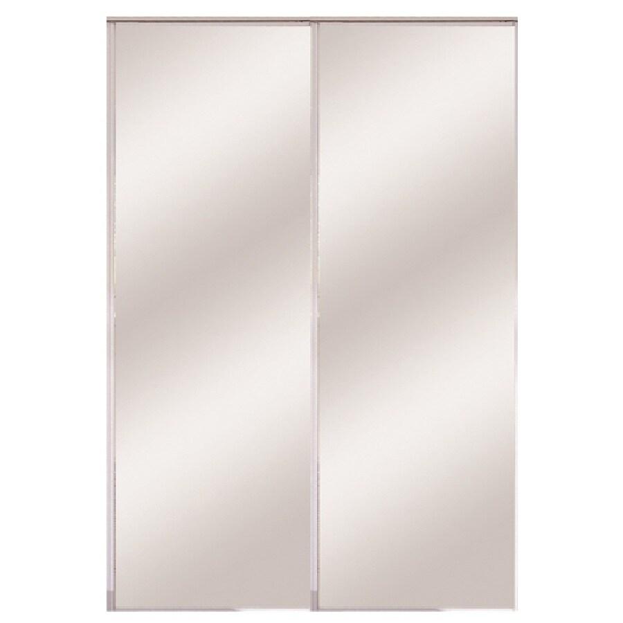 ReliaBilt Flush Mirror Bi-Fold Closet Interior Door (Common: 24-in x 80-in; Actual: 24-in x 78.56-in)