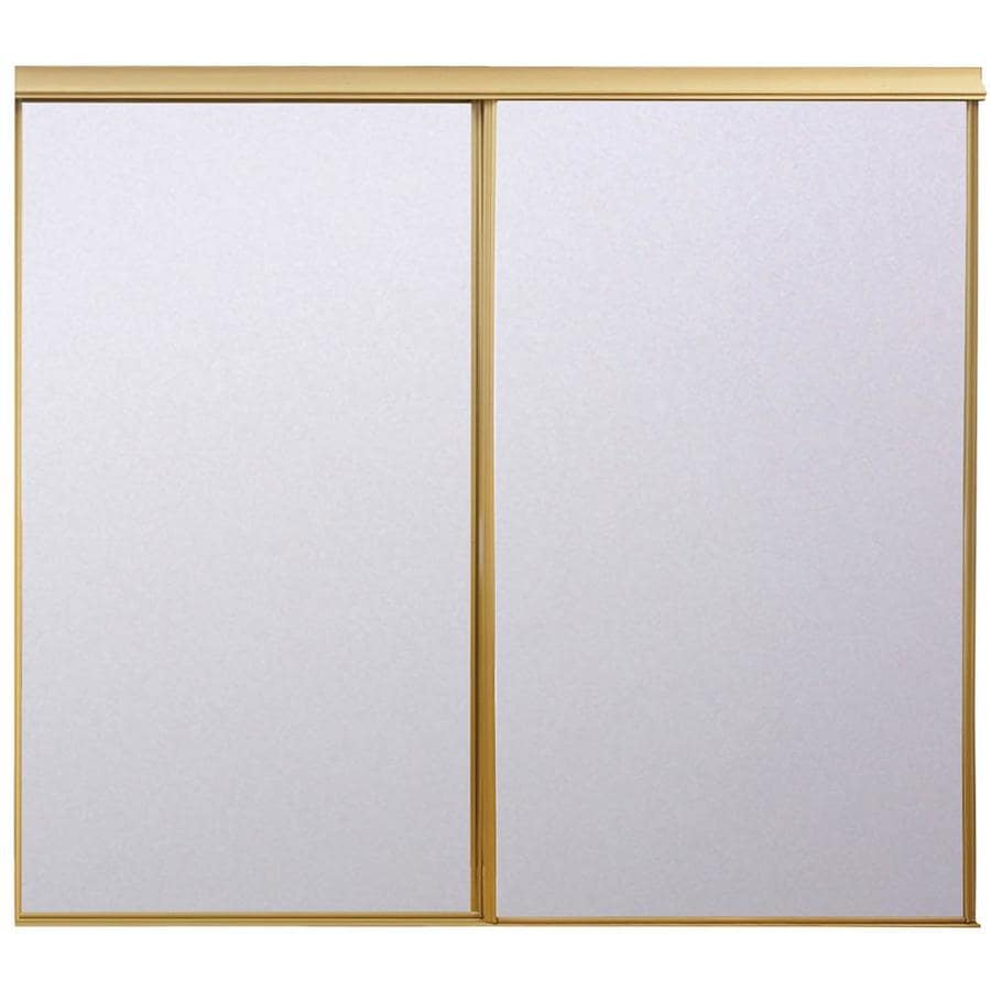 ReliaBilt Flush Mirror Sliding Closet Interior Door (Common: 72-in x 80-in; Actual: 72-in x 78-in)