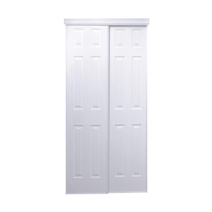 ReliaBilt White 6-Panel  Sliding Closet Interior Door (Common: 72-in x 80-in; Actual: 72-in x 78-in)