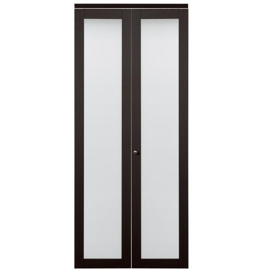 ReliaBilt 1-Lite Frosted Glass Bi-Fold Closet Interior Door (Common: 24-in x 80-in; Actual: 24-in x 78.68-in)