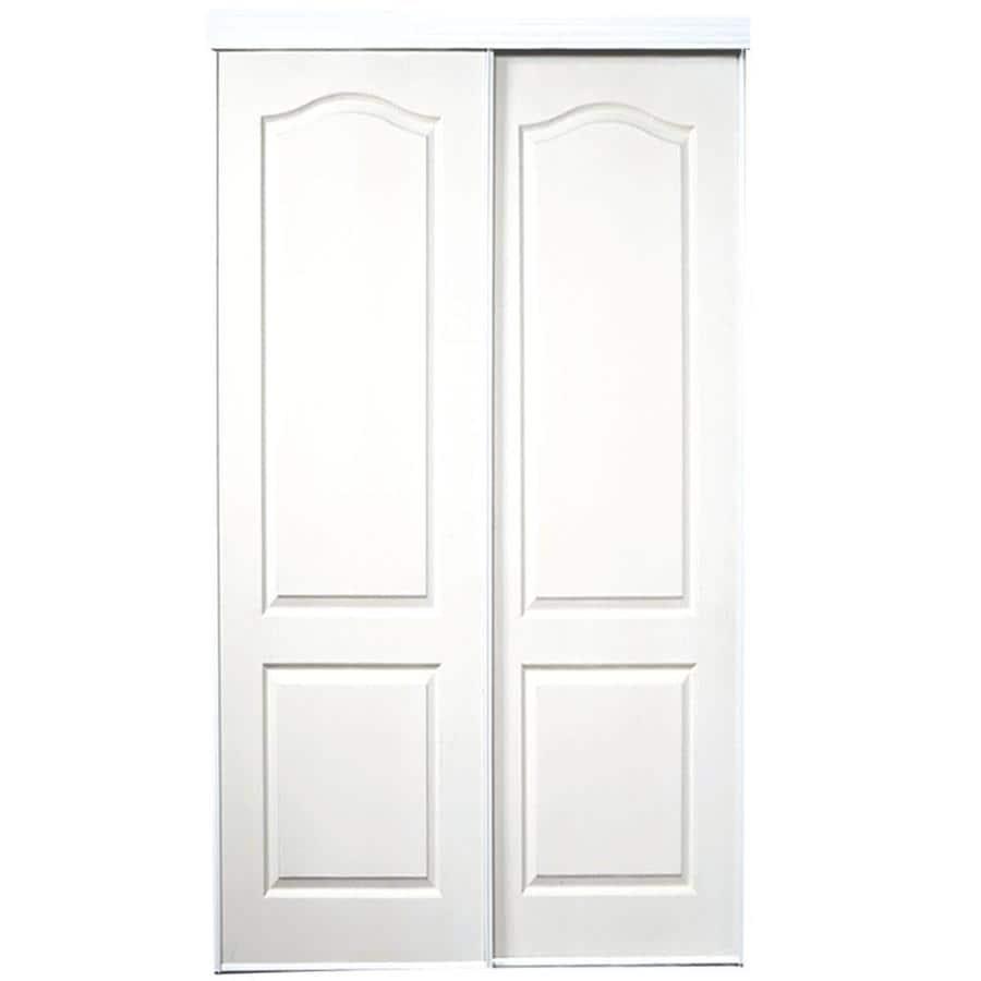 ReliaBilt White 2-Panel Arch Top Sliding Closet Interior Door (Common: 60-in x 80-in; Actual: 60-in x 78-in)