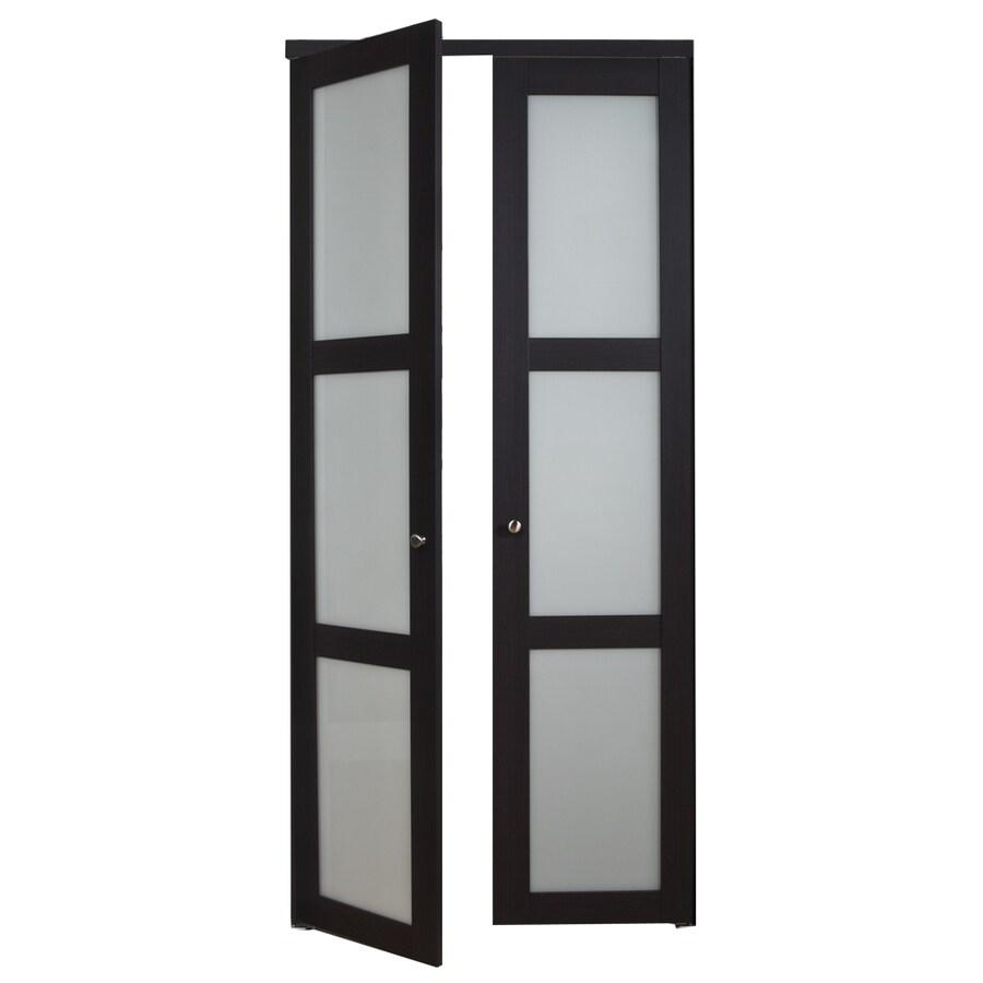 ReliaBilt 3-Lite Frosted Glass Pivot Interior Door (Common: 24-in x 80-in; Actual: 24-in x 77.75-in)