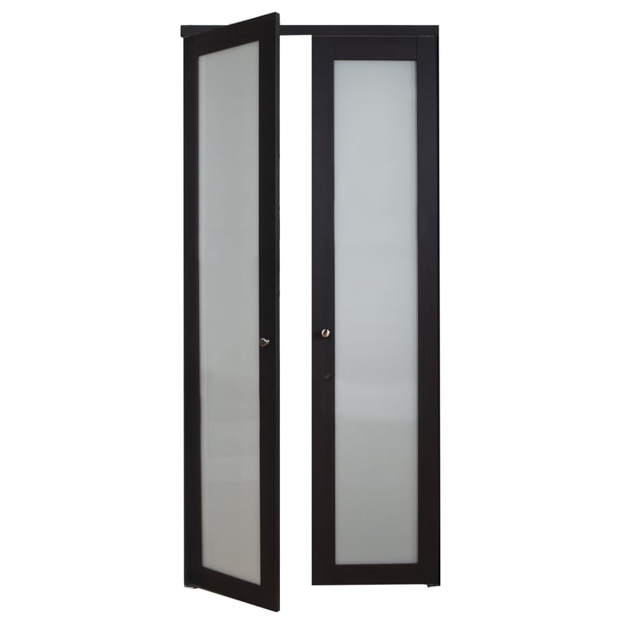ReliaBilt 1-Lite Frosted Glass Pivot Interior Door (Common: 30-in x 80-in; Actual: 30-in x 77.75-in)