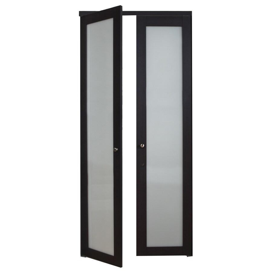 ReliaBilt 1-Lite Frosted Glass Pivot Interior Door (Common: 36-in x 80-in; Actual: 36-in x 77.75-in)