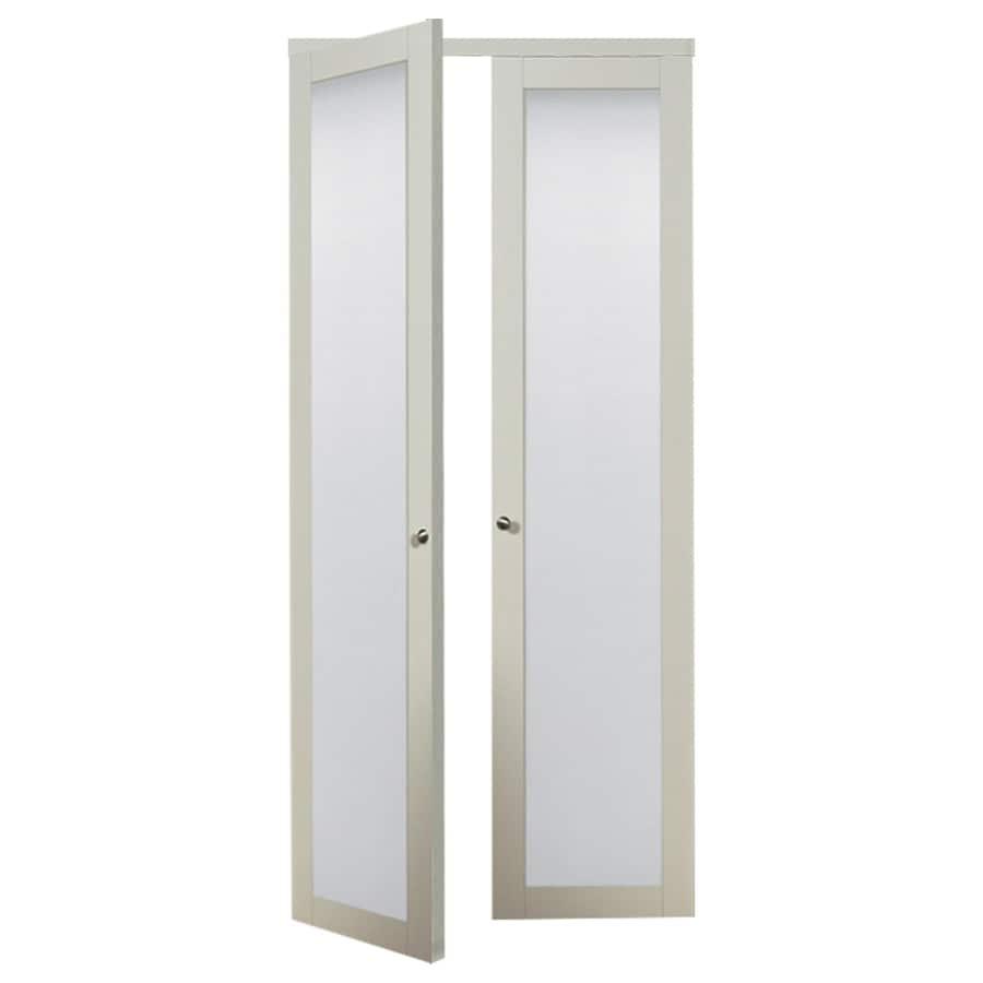 shop reliabilt 1 lite frosted glass pivot interior door common 30 in x 80 in actual 30 in x