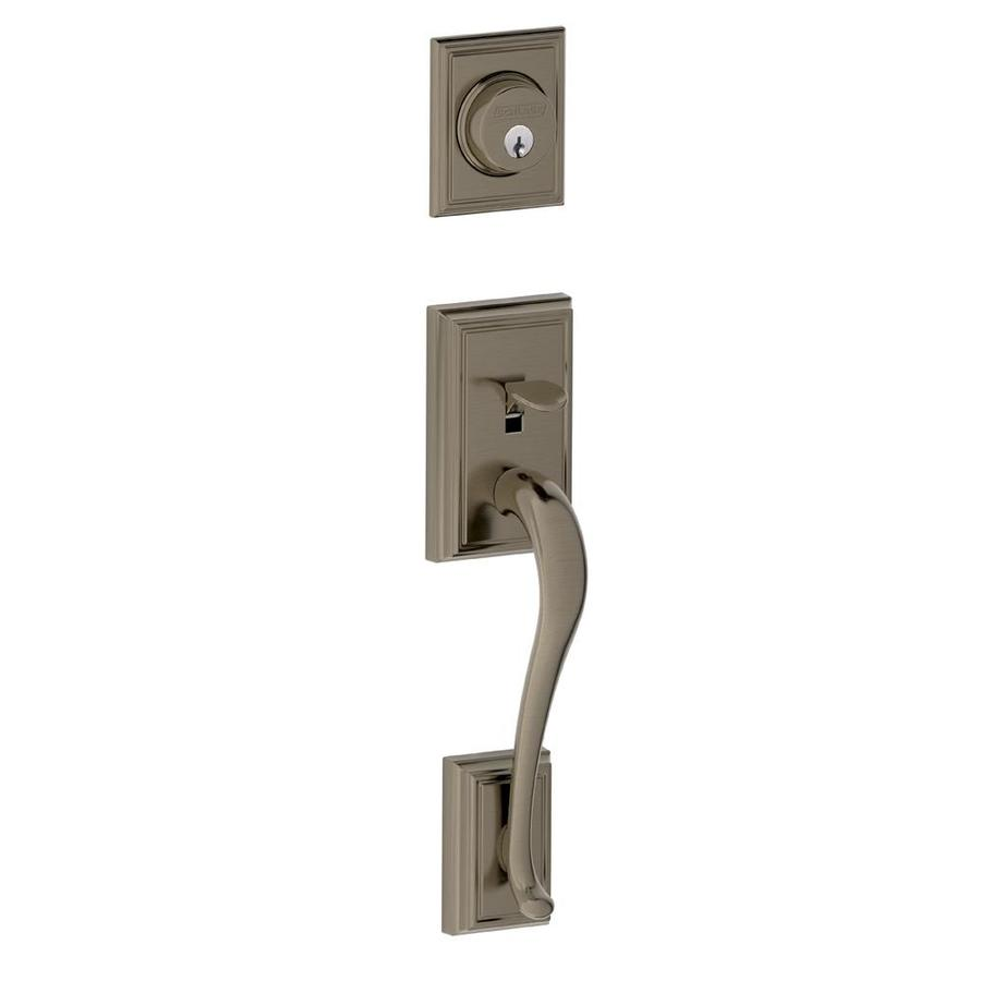 Shop Schlage Addison Adjustable Antique Pewter Entry Door