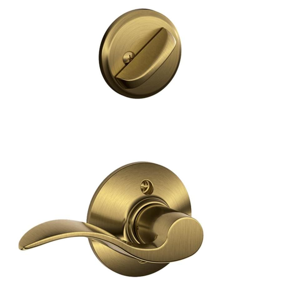 Shop Schlage Accent 1 5 8 In To 1 3 4 In Antique Brass