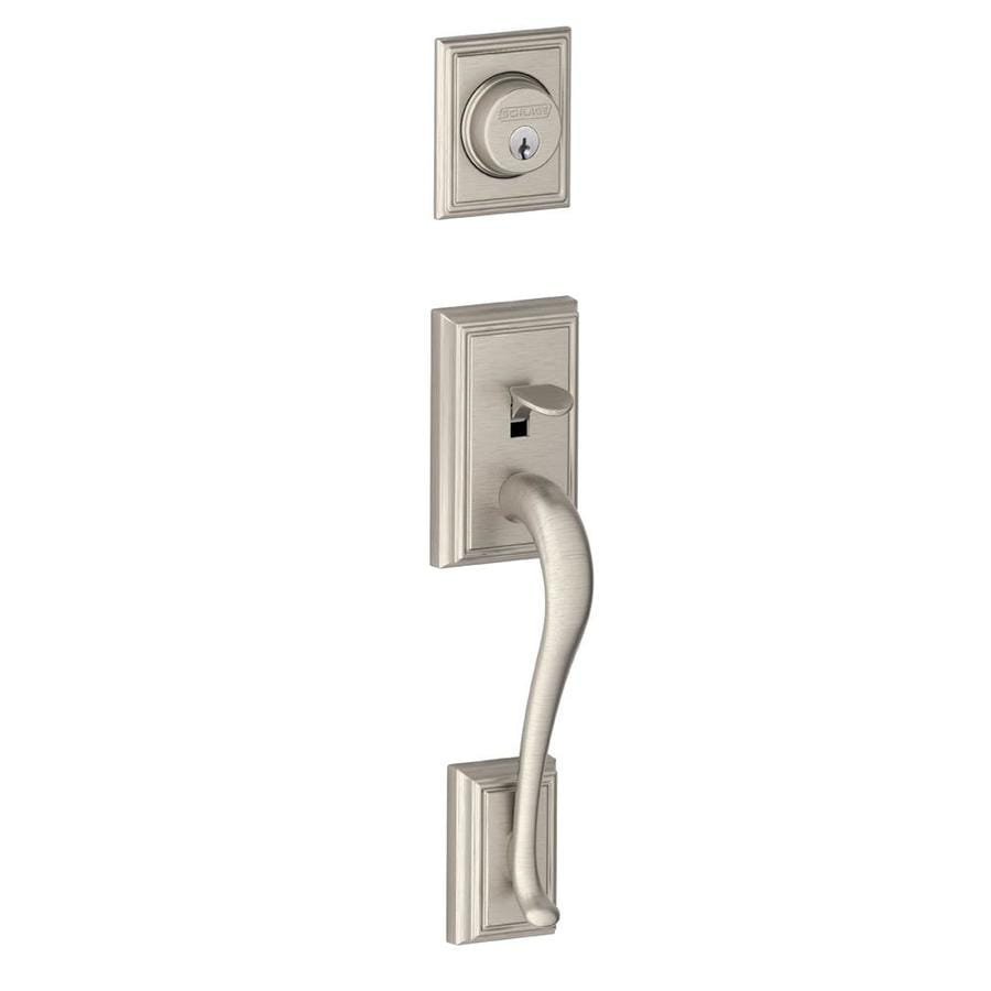 Shop Schlage Addison Satin Nickel Entry Door Exterior