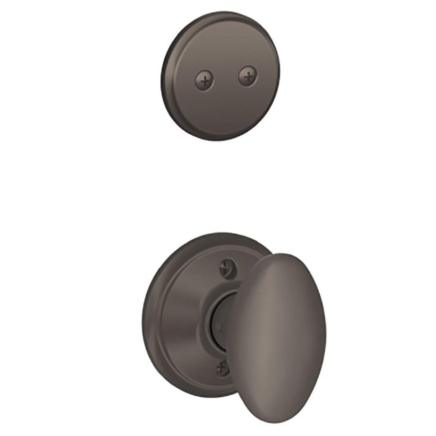 Schlage Siena 1-5/8-in to 1-3/4-in Oil-Rubbed Bronze Non-Keyed Knob Entry Door Interior Handle