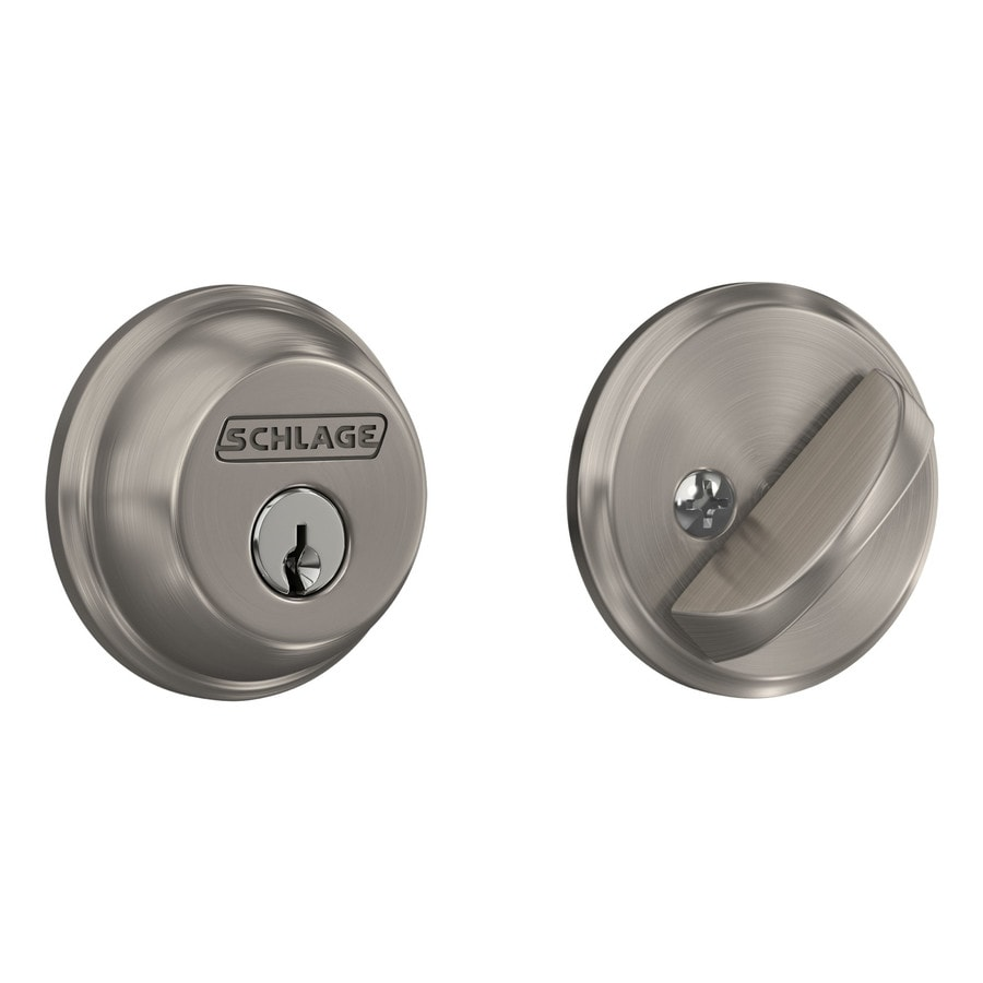 Shop Schlage Satin Nickel Single Cylinder Deadbolt At