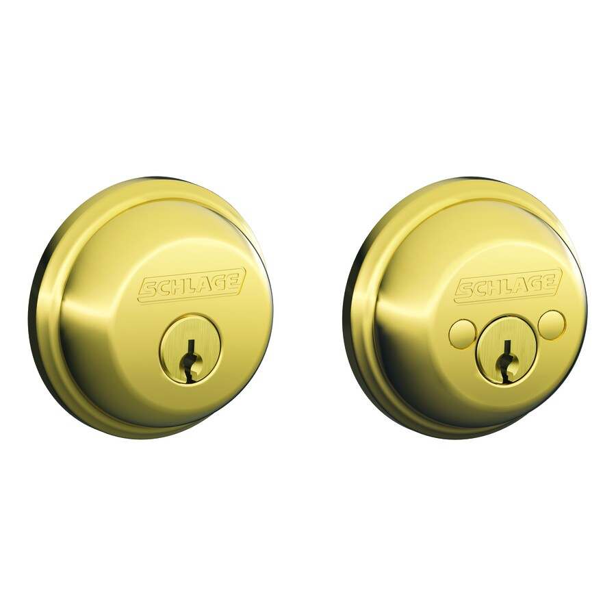 Schlage Bright Brass Double-Cylinder Deadbolt