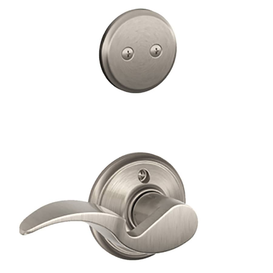 Shop Schlage Avanti 1 5 8 In To 1 3 4 In Satin Nickel Non Keyed Lever Entry Door Interior Handle
