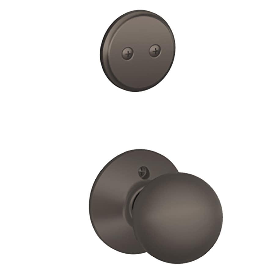 Schlage Orbit 1-5/8-in to 1-3/4-in Oil-Rubbed Bronze Non-Keyed Knob Entry Door Interior Handle