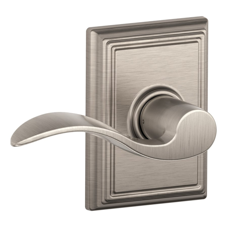 Schlage Decorative Addison Collections Accent Satin Nickel-Handed Passage Door Lever