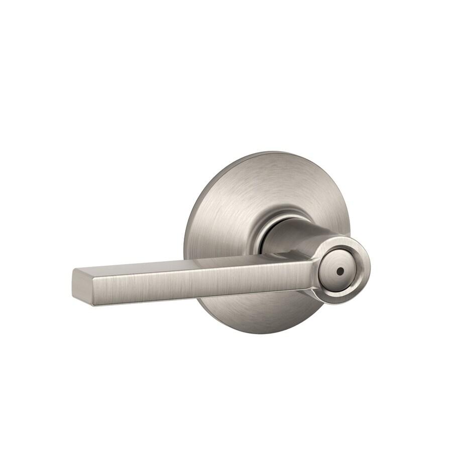 Schlage Latitude Satin Nickel Push-Button Lock Privacy Door Lever