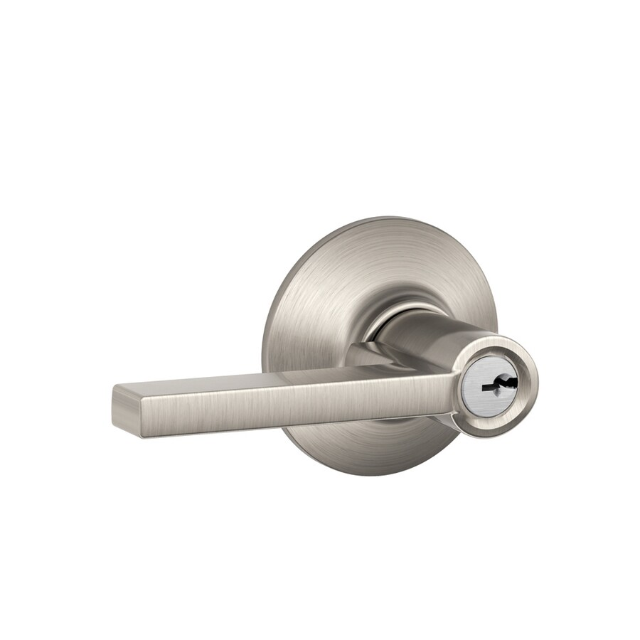 Schlage Latitude Satin Nickel Universal Keyed Entry Door Lever
