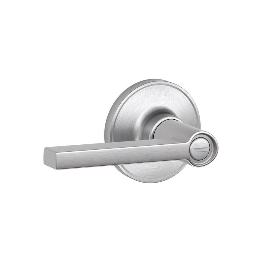 Schlage J Solstice Satin ChromeTurn Lock Privacy Door Lever