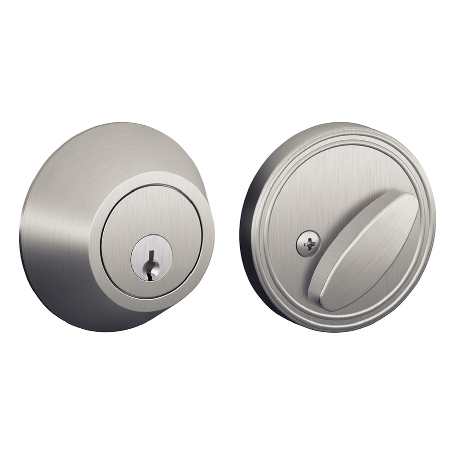 Schlage J Satin Chrome Single-Cylinder Deadbolt