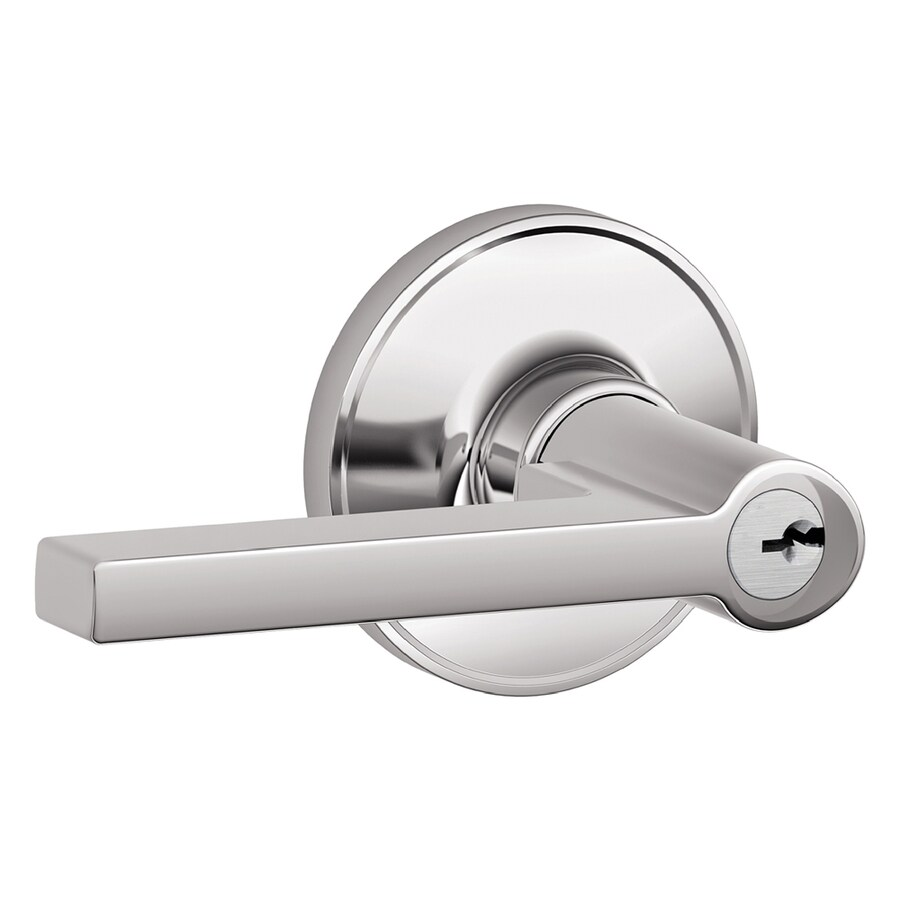 Schlage J Solstice Traditional Bright Chrome Universal Keyed Entry Door Lever