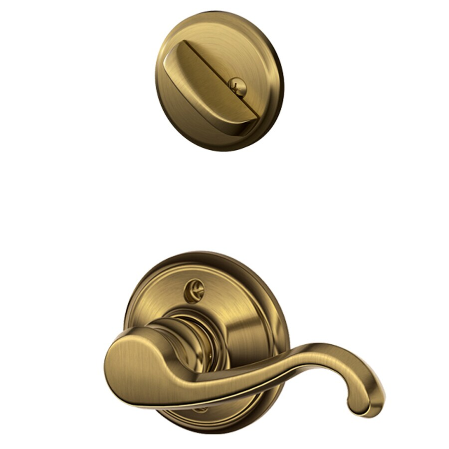 Shop Schlage Callington 1 5 8 In To 1 3 4 In Antique Brass
