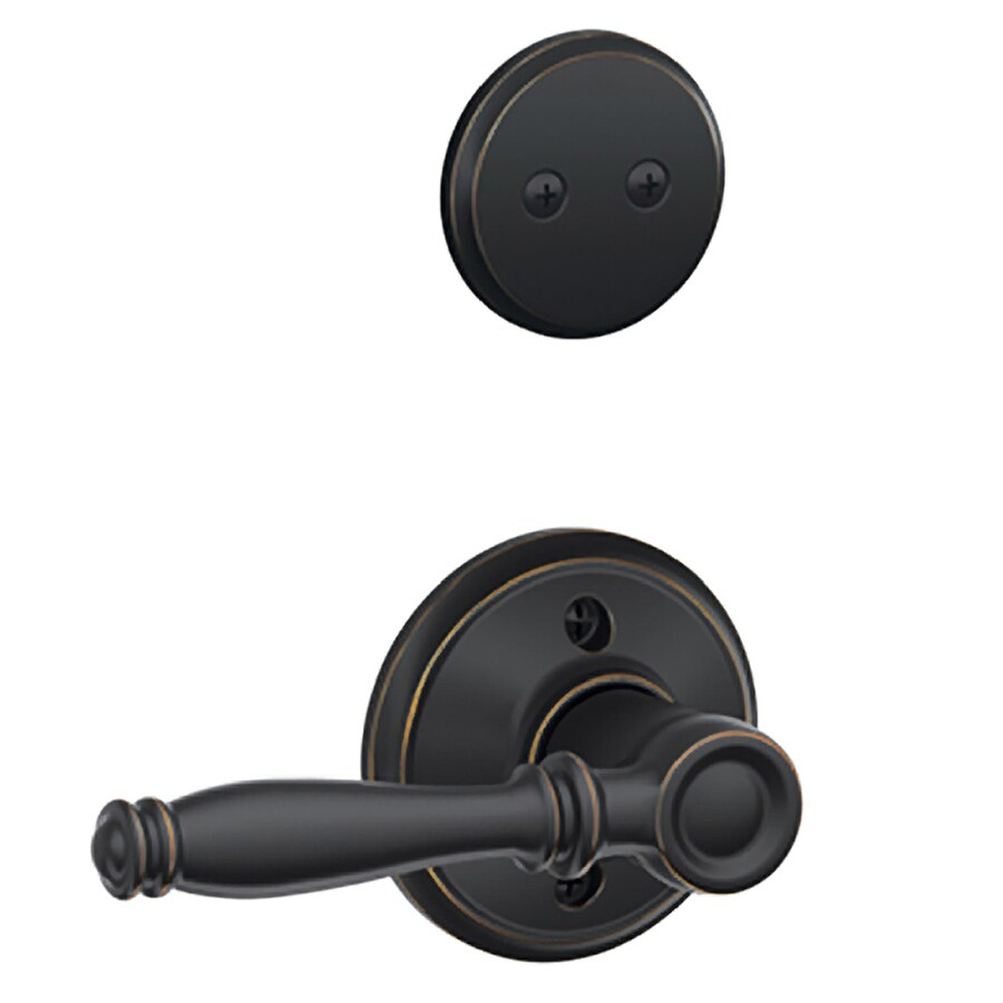 Shop Schlage Birmingham 1 5 8 In To 1 3 4 In Aged Bronze Non Keyed Lever Entry Door Interior