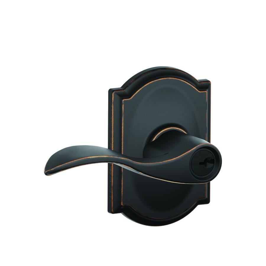 Schlage Accent Aged Bronze Universal Keyed Entry Door Lever
