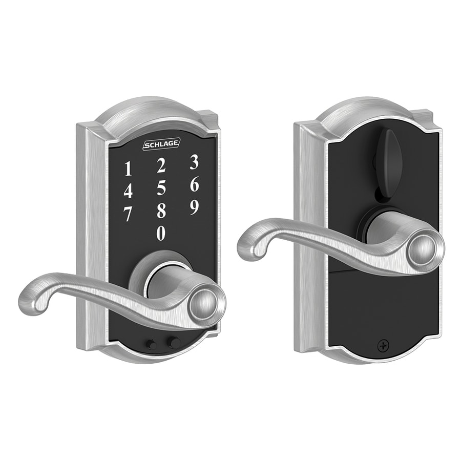 Schlage Touch Camelot Satin Chrome Electronic Entry Door Lever