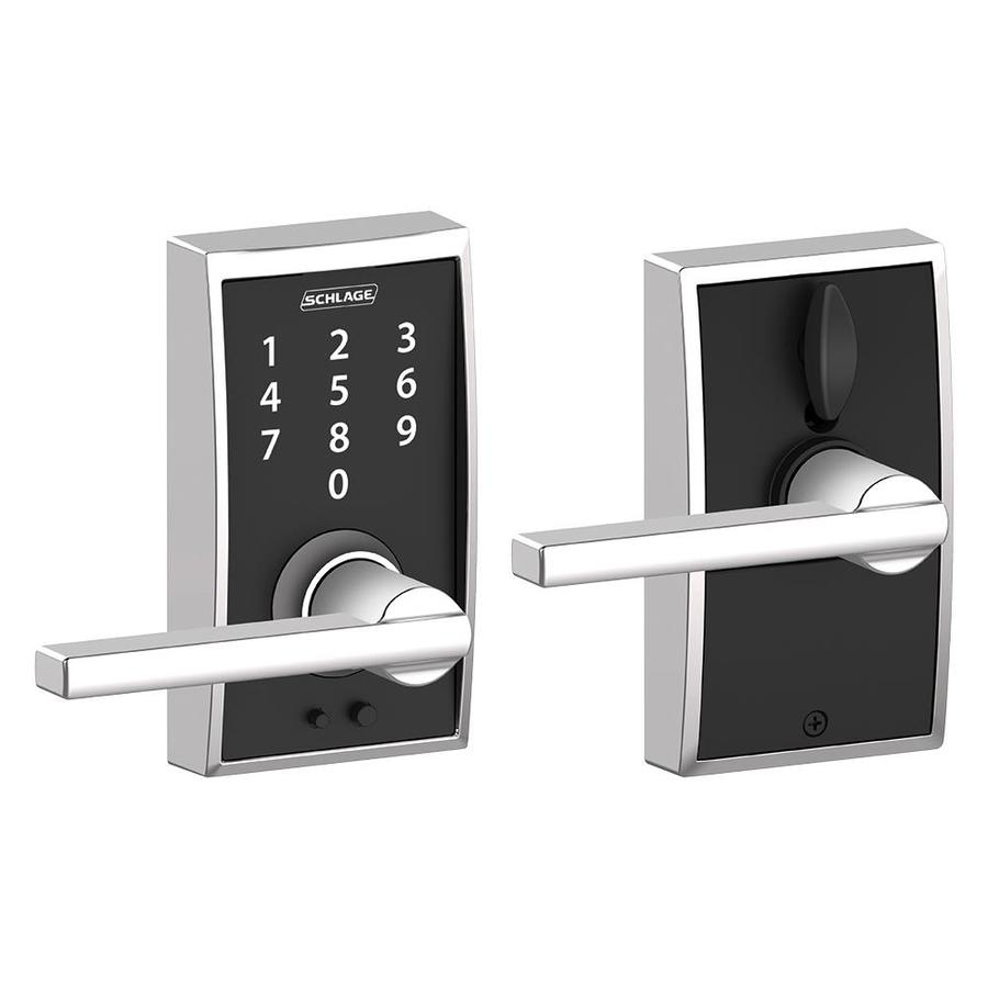 Schlage Touch Century Bright Chrome Electronic Entry Door Lever