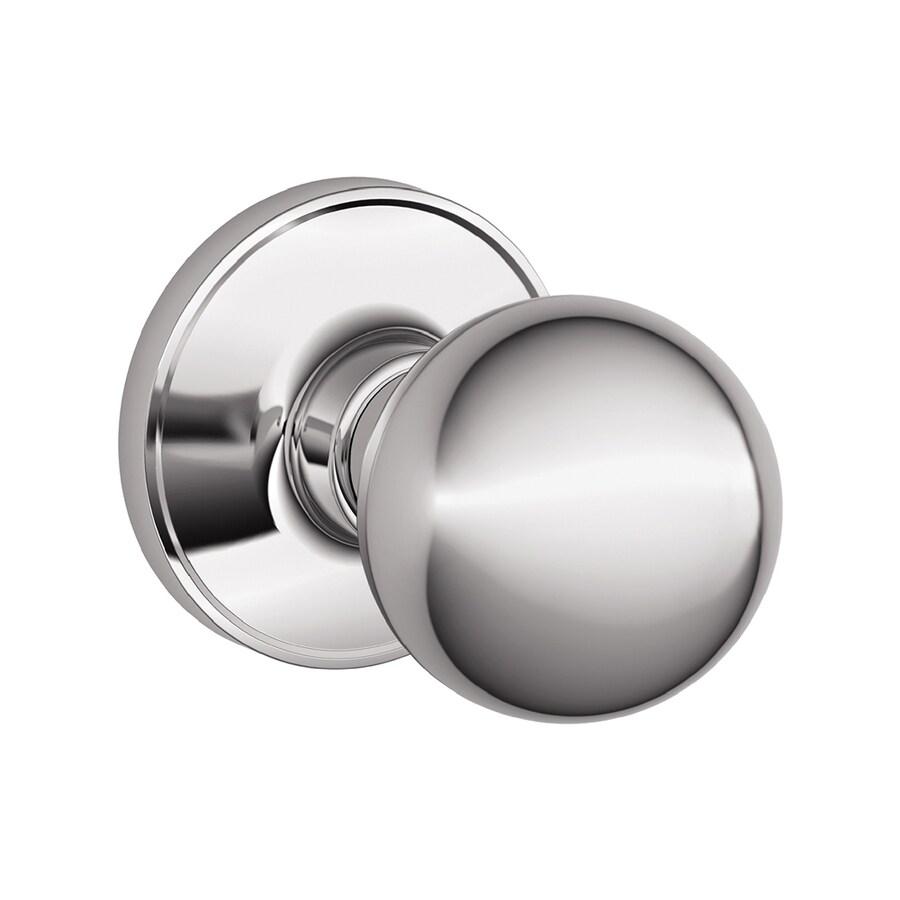 Shop Schlage Corona Polished Chrome Round Passage Door