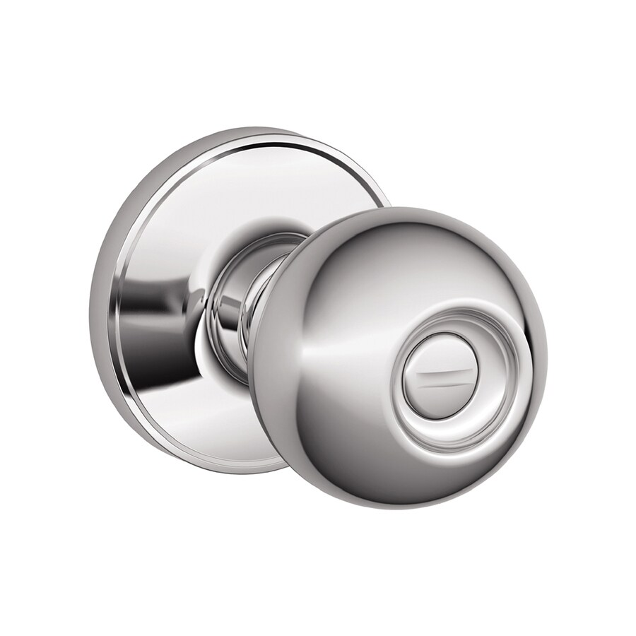 Schlage J Corona Bright Chrome Round Turn-Lock Privacy Door Knob