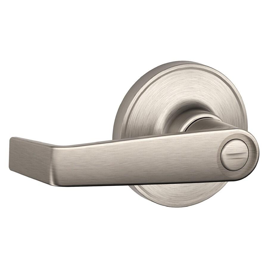 Schlage J Marin Satin Nickel Turn Lock Privacy Door Lever