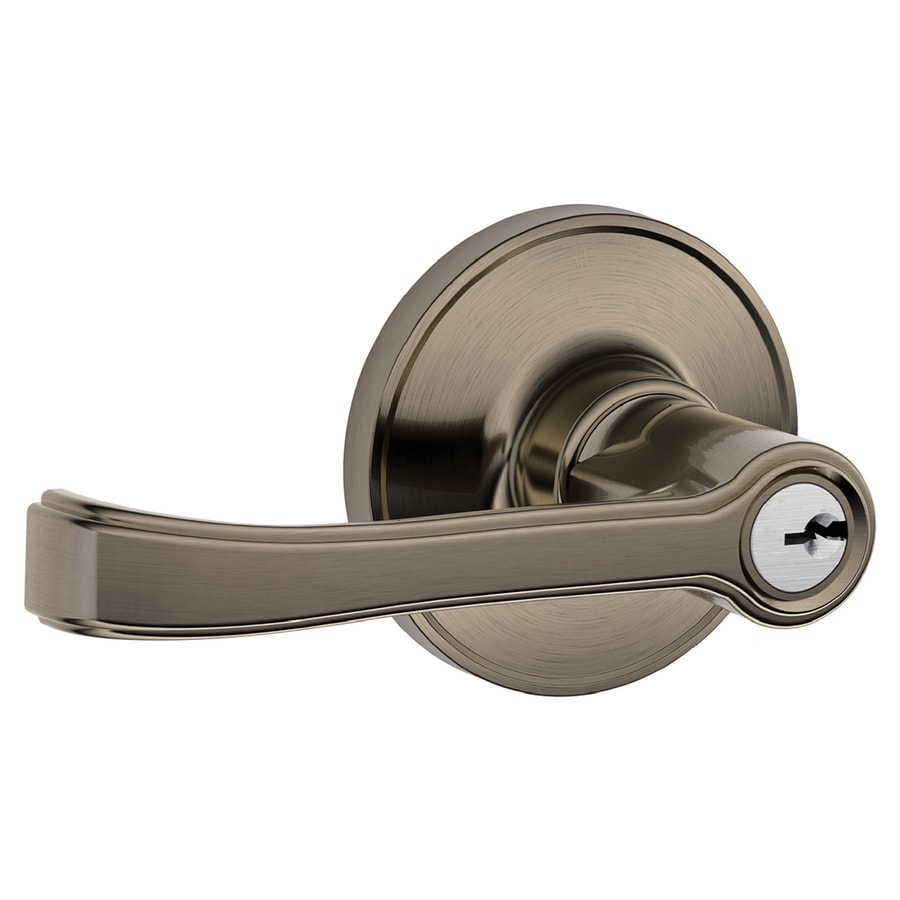 Schlage J Torino Traditional Antique Pewter Universal Keyed Entry Door Lever