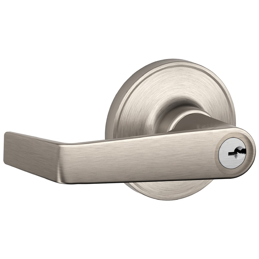 Schlage J Marin Traditional Satin Nickel Universal Keyed Entry Door Lever