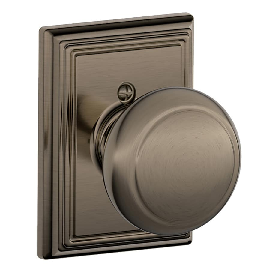 Schlage F Decorative Addison Collections Andover Antique Pewter Dummy Door Knob