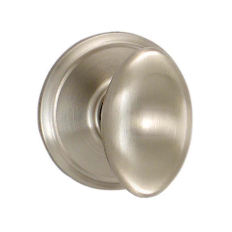 Shop Schlage Passage Siena Satin Nickel Egg Passage Door