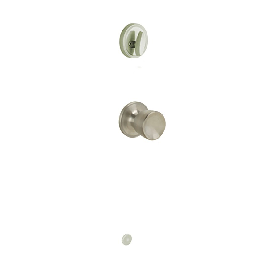 Schlage Byron 1-3/8-in to 1-3/4-in Satin Stainless Steel Single Cylinder Knob Entry Door Interior Handle