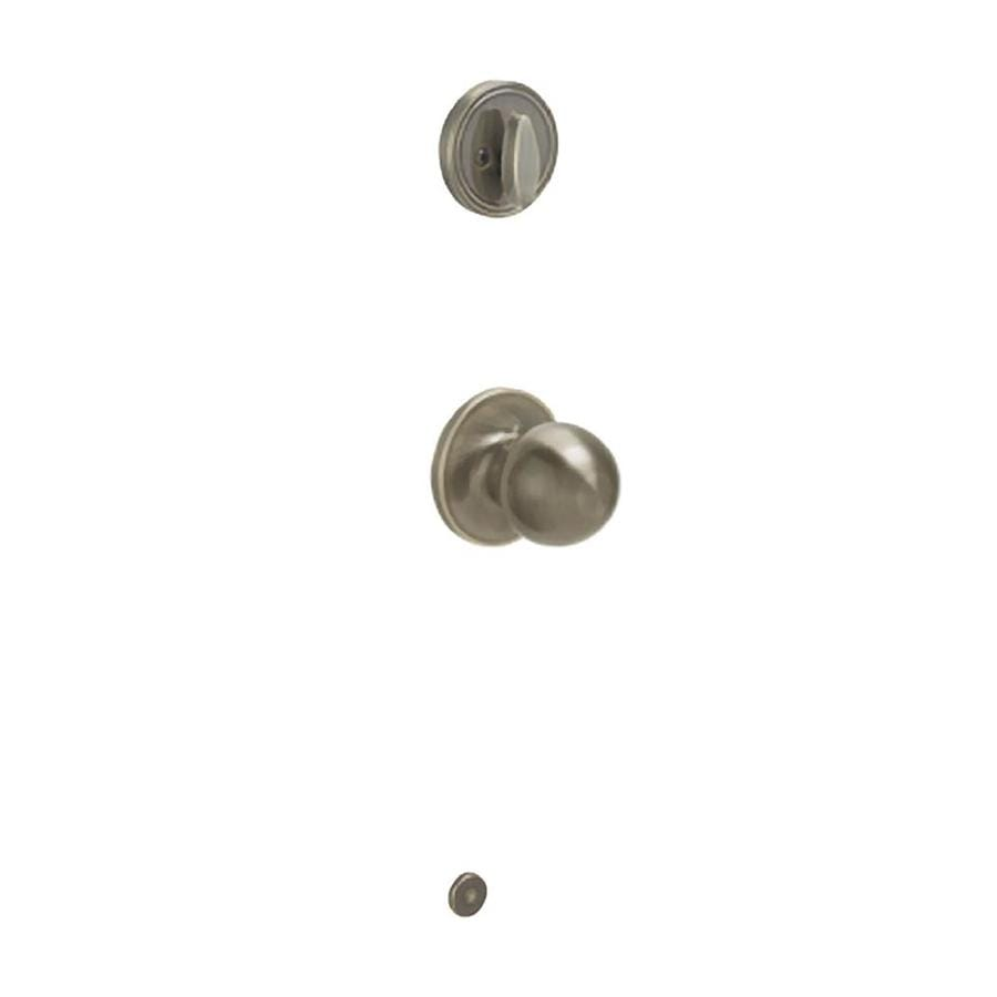 Schlage Corona 1-3/8-in to 1-3/4-in Antique Brass Single Cylinder Knob Entry Door Interior Handle