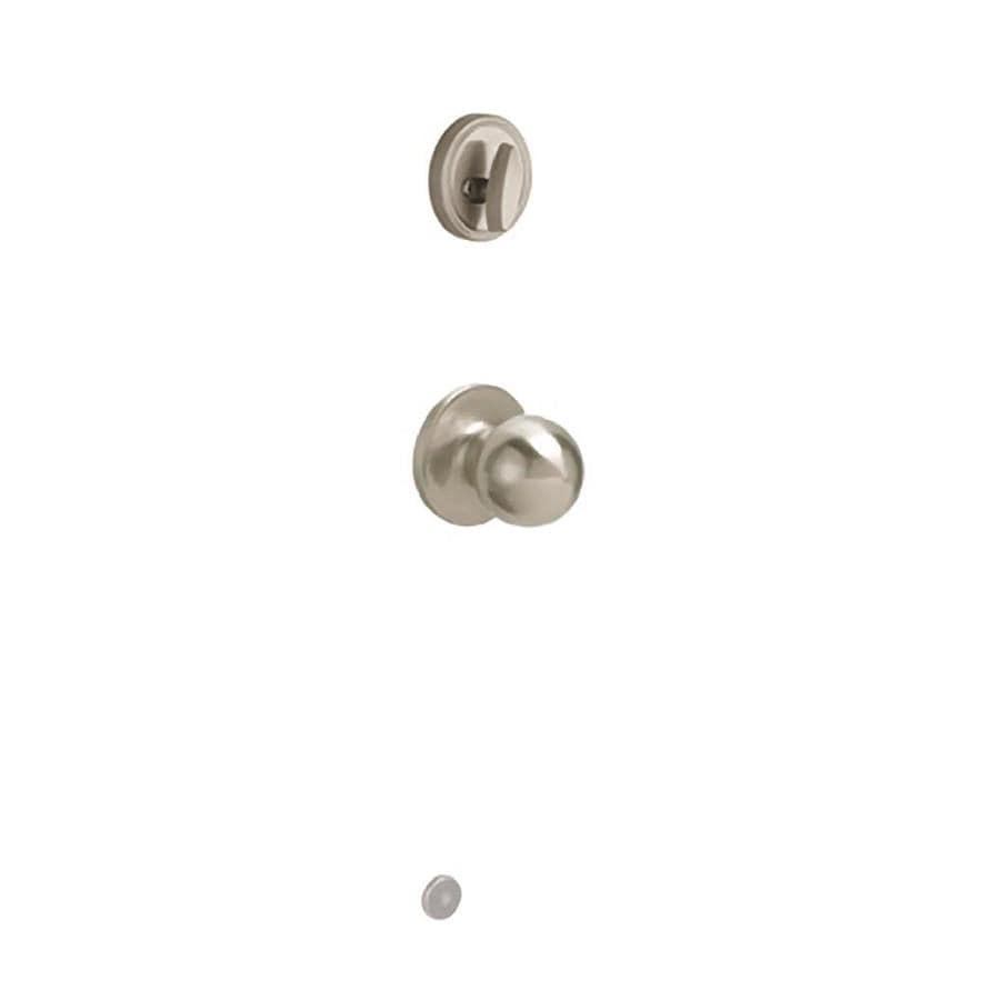 Schlage Corona 1-3/8-in to 1-3/4-in Satin Nickel Single Cylinder Knob Entry Door Interior Handle
