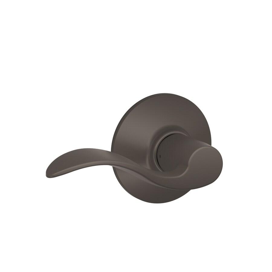 Shop Schlage Accent Oil Rubbed Bronze Handed Passage Door